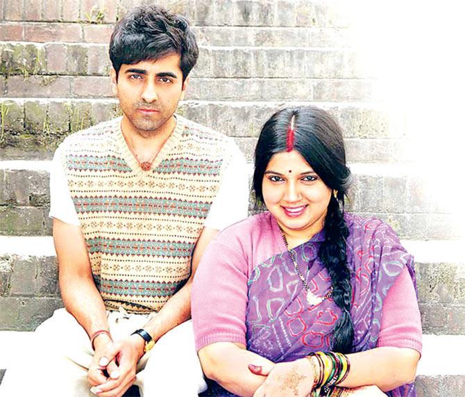 Ayushmann Khuranna and Bhumi Pednekar in Dum Laga Ke Haisha