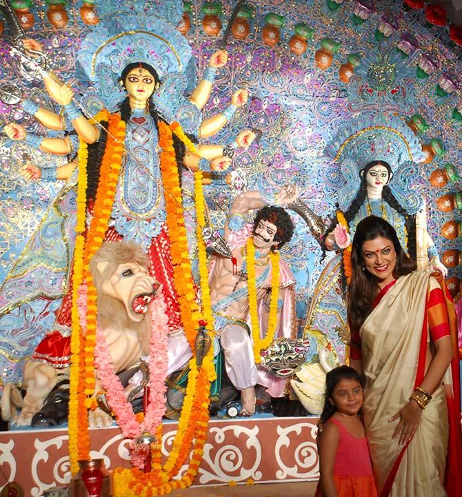 Sushmita Sen with her daughter Alisha Sen