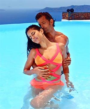 Katrina Kaif and Hrithik Roshan in Bang Bang
