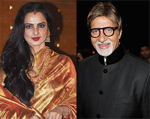 Rekha and Amitabh Bachchan