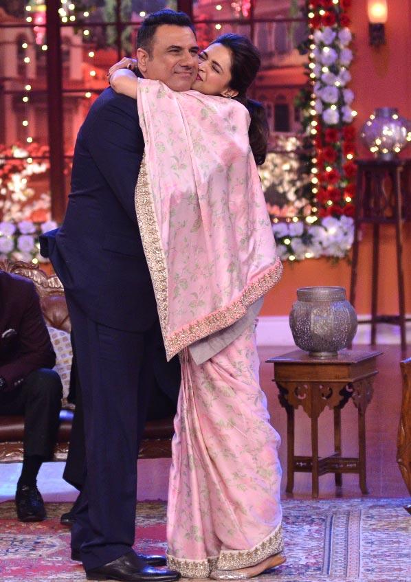 Boman Irani and Deepika Padukone
