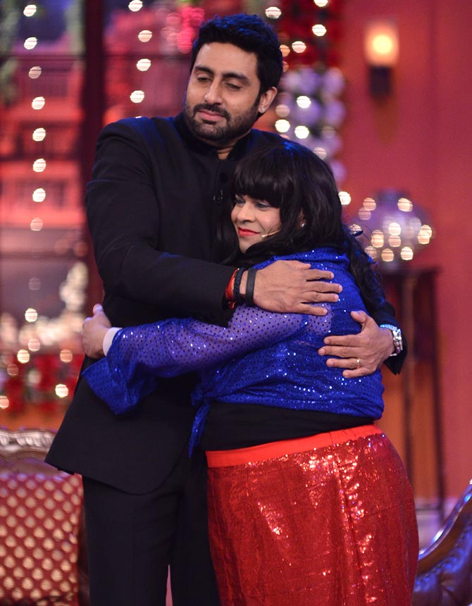 Abhishek Bachchan and Kiku Sharda