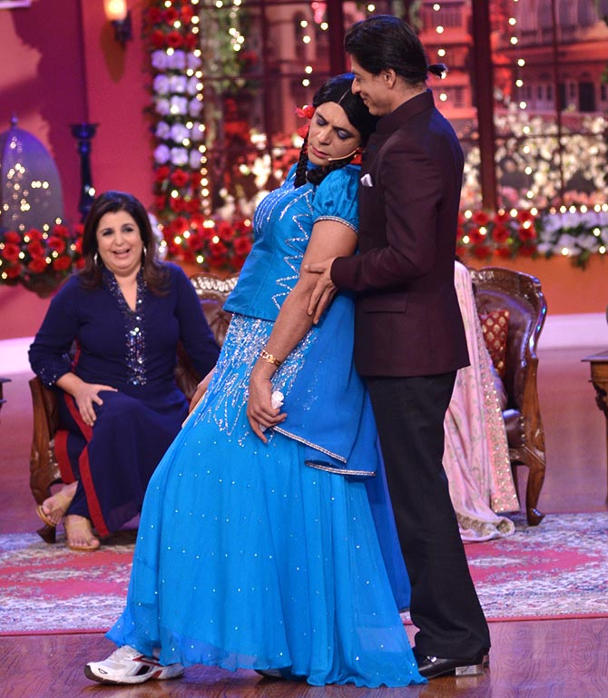 Shah Rukh Khan and Sunil Grover