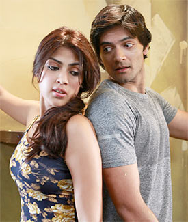 Rhea Chakrabarty and Ali Fazal in Sonali Cable