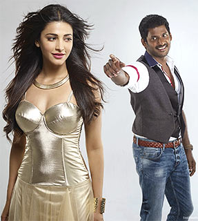 Vishal and Shruti Haasan in Poojai