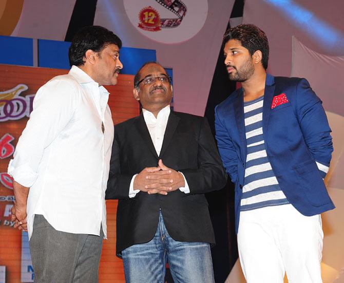 Chiranjeevi and Allu Arjun