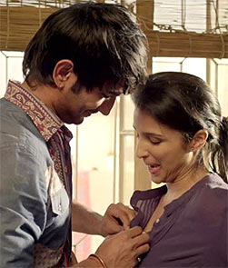 Sushant Singh Rajput and Parineeti Chopra in Shuddh Desi Romance
