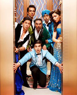 Shah Rukh Khan, Sonu Sood, Boman Irani, Abhishek Bachchan, Deepika Padukone and Vivaan Shah in Happy New Year