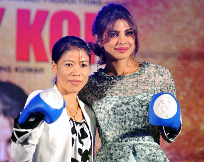 Image result for PRIYANKA chopra as mary kom