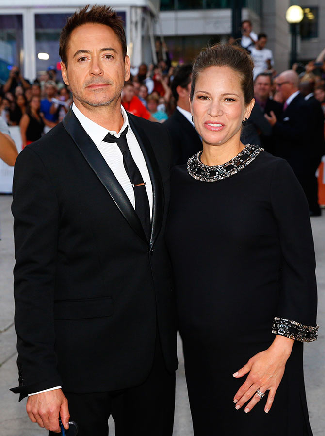 Robert Downey Jr Wife Welcome Baby Girl Rediff Com Movies