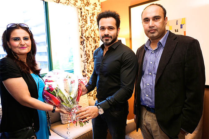 Emraan with Syad Aamir Raza and his wife Shafqat