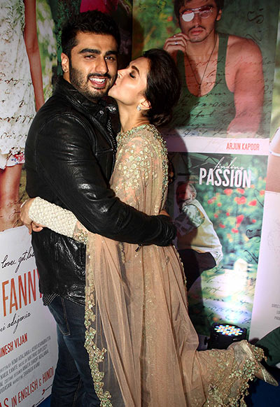 Current Bollywood News & Movies - Indian Movie Reviews, Hindi Music & Gossip - PIX: Arjun, Deepika, Ranveer at Finding Fanny success party