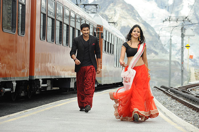 Rakul Preet Singh and Gopichand in Loukyam