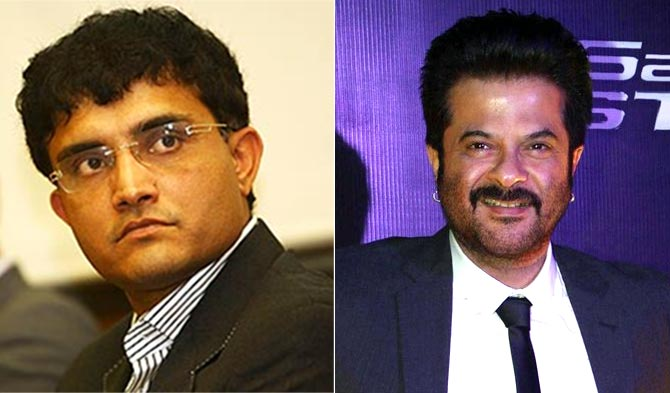 Sourav Ganguly and Anil Kapoor