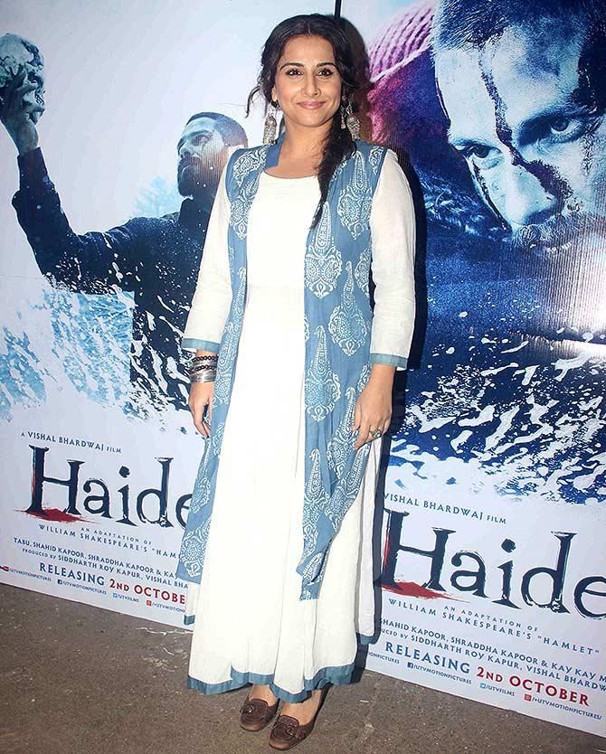 Current Bollywood News & Movies - Indian Movie Reviews, Hindi Music & Gossip - PIX: Vidya, Huma, Vishal Bharadwaj at Haider screening