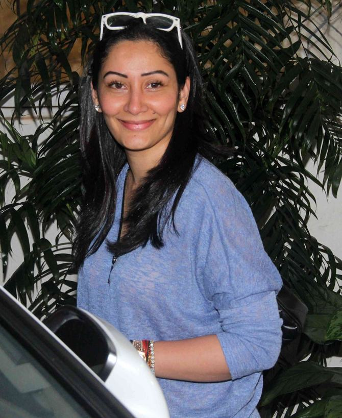 Current Bollywood News & Movies - Indian Movie Reviews, Hindi Music & Gossip - Spotted: Maanyata Dutt watches Drishyam