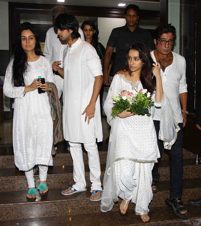 PIX Shraddha Kapoor Family At Her Grandfathers Prayer Meet