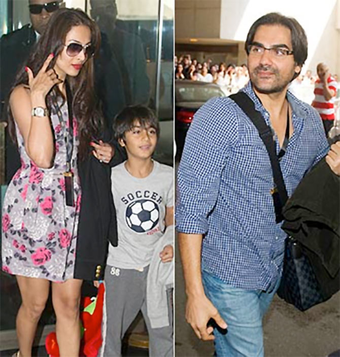 Malaika Arora Khan, Arhaan Khan and Arbaaz Khan