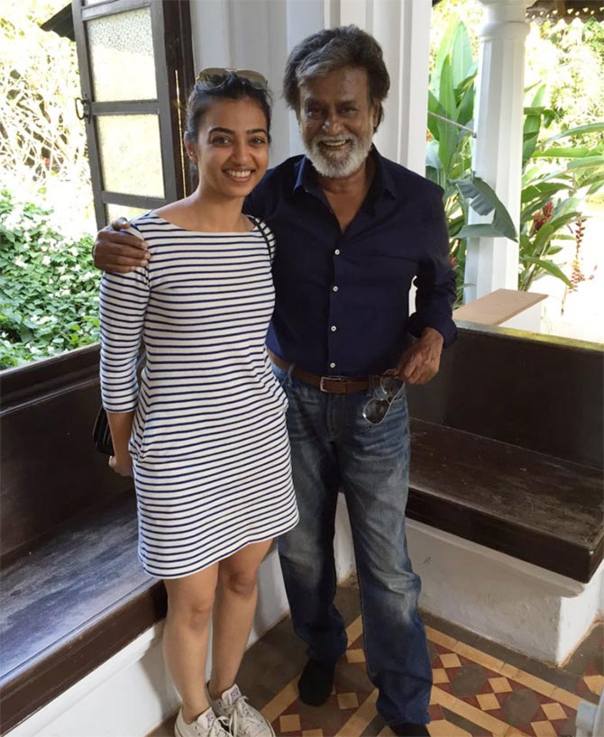 Radhika Apte and Rajinikanth