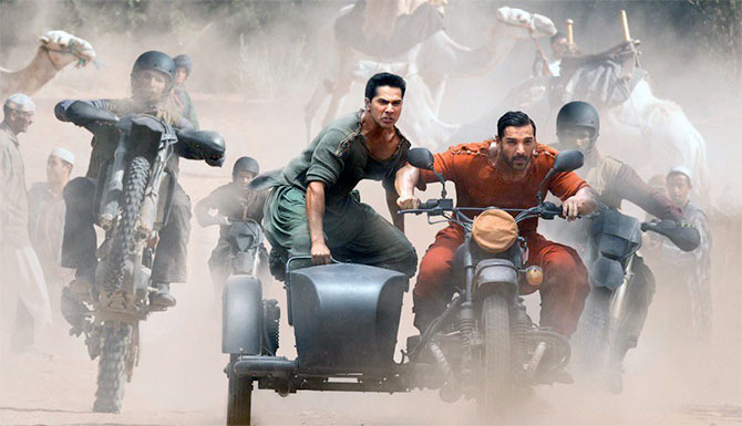Varun Dhawan and John Abraham