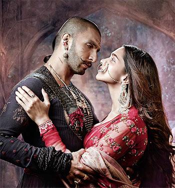 Ranveer Singh and Deepika Padukon in Bajirao Mastani