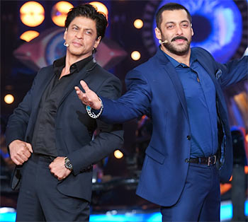 Image result for srk with salman on bigg boss