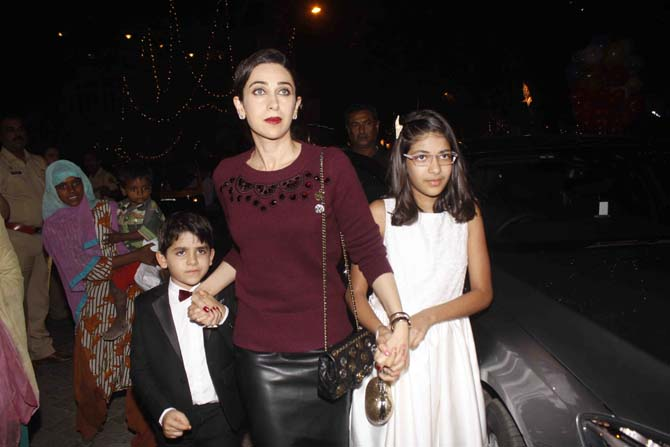 Karisma Kapoor with her children