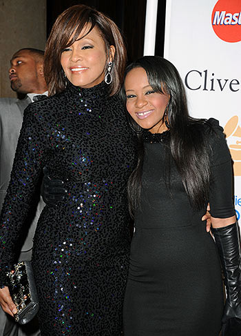 Whitney Houston and Bobby Christina Brown