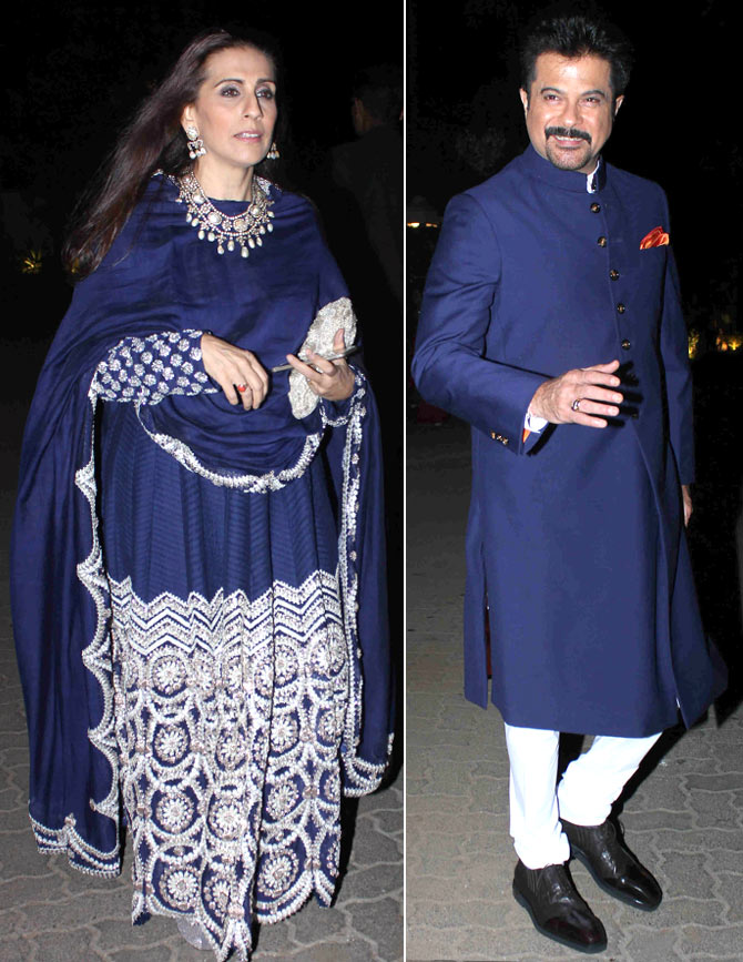 Anil Kapoor Made Sure To Colour Coordinate With Wife Sunita Rishi Was Also Among The Guests