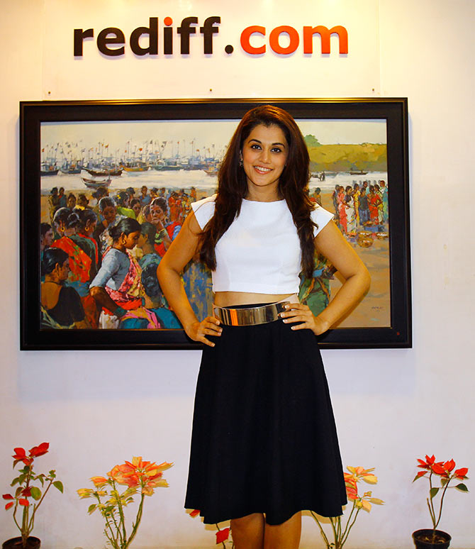 Current Bollywood News & Movies - Indian Movie Reviews, Hindi Music & Gossip - PIX: Baby actress Taapsee Pannu visits Rediff
