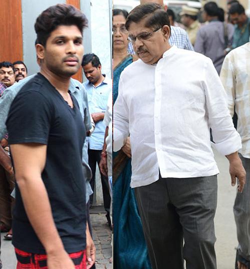 Allu Aravind and Allu Arjun