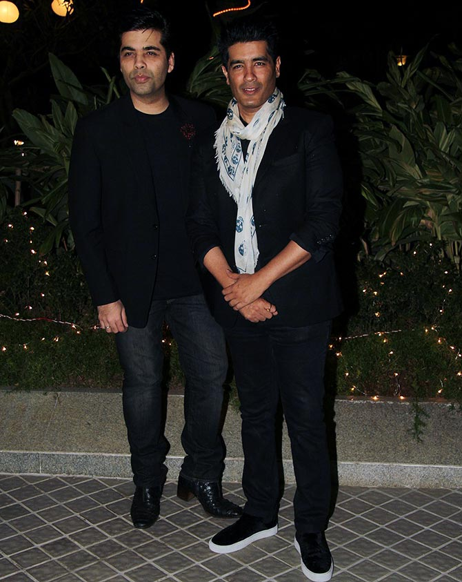 Karan Johar and Manish Malhotra