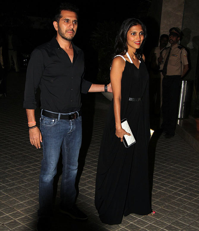Ritesh Sidhwani with his wife