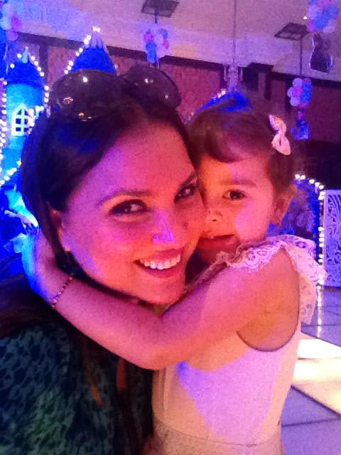 Lara Dutta with daughter Saira
