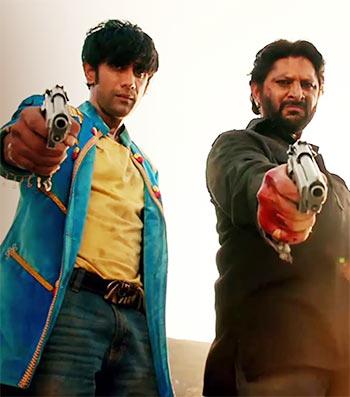 Amit Sadh and Arshad Warsi in Guddu Rangeela