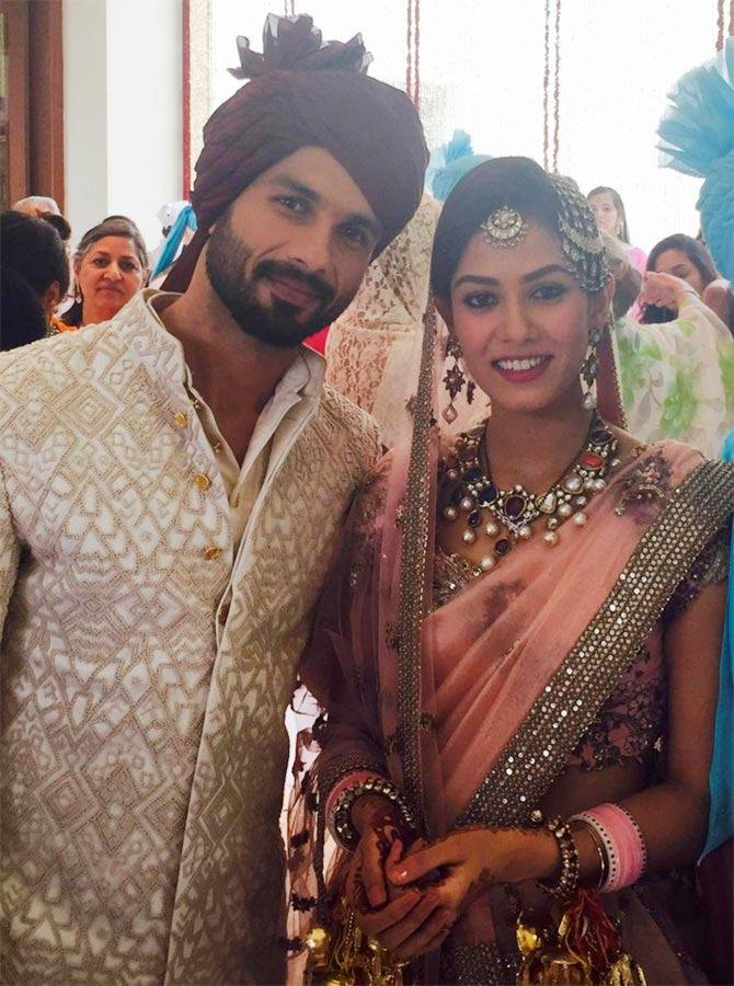 Shahid Kapoor and Mira Rajput. Photograph: Mubina Rattonsey/ Twitter