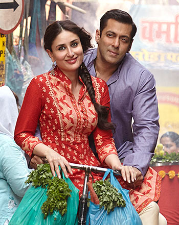 Kareena Kapoor and Salman Khan in Bajrangi Bhaijaan