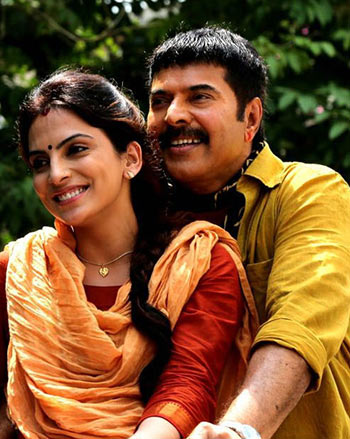 Manasi Sharma and Mammootty in Acha Din