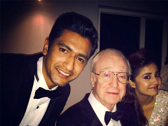 Vicky Kaushal, Michael Caine and Shweta Tripathi