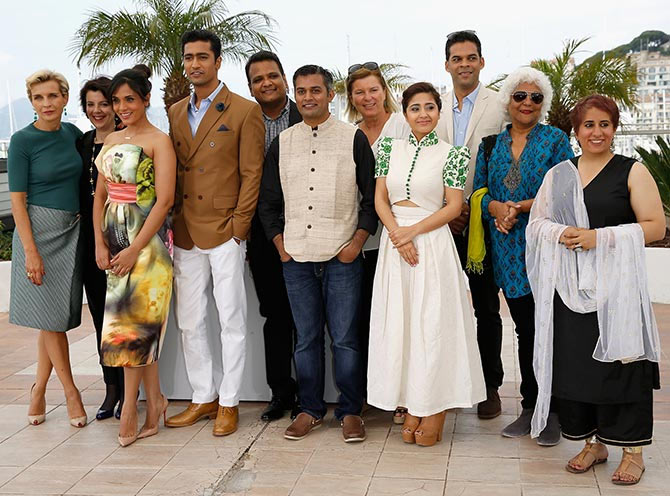 The Masaan team at Cannes