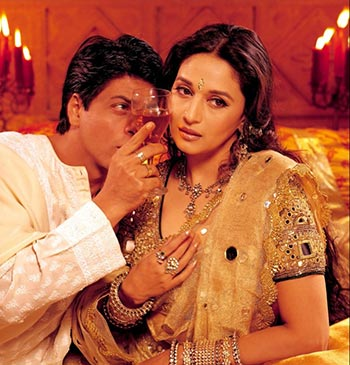 Shah Rukh Khan and Madhuri Dixit in Devdas