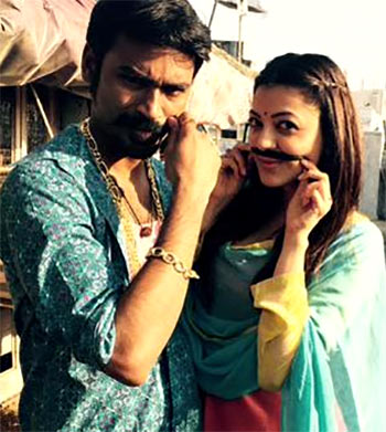 Dhanush and Kajal Agarwal in Maari