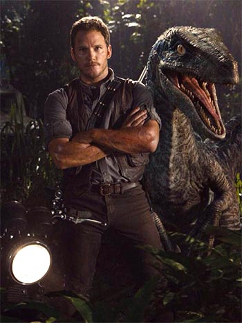 A scene from Jurassic World