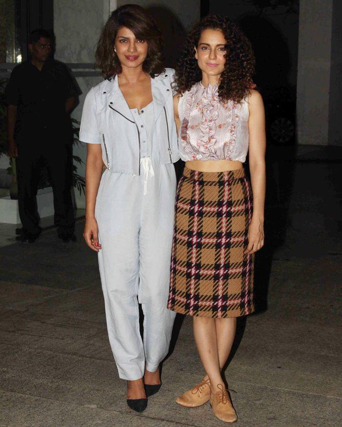 Current Bollywood News & Movies - Indian Movie Reviews, Hindi Music & Gossip - PIX: Kangna, Priyanka's star-studded bash for National award win