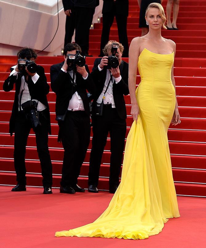 PIX: Charlize Therone, Salma Hayek at Cannes - Rediff com movies
