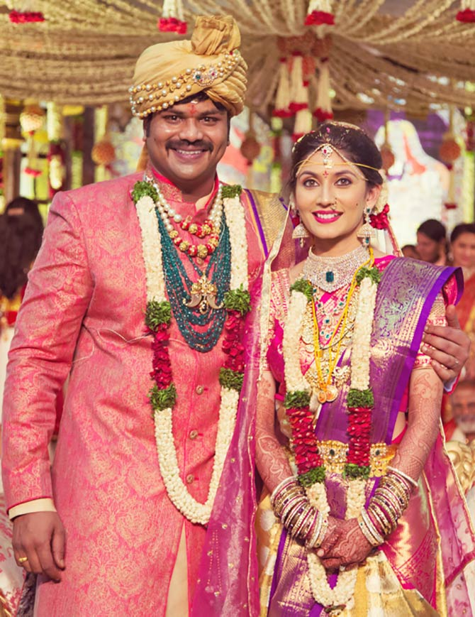 Current Bollywood News & Movies - Indian Movie Reviews, Hindi Music & Gossip - Pix: Political big-wigs, tinsel town grace Telugu actor Manoj Manchu's wedding