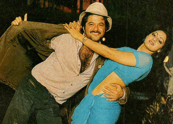 Anil Kapoor and Sridevi in Mr India