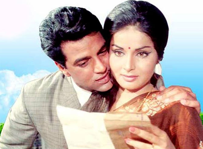 Dharmendra and Raakhee