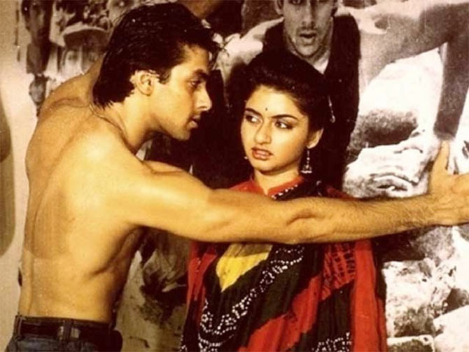 Salman Khan and Bagyashree