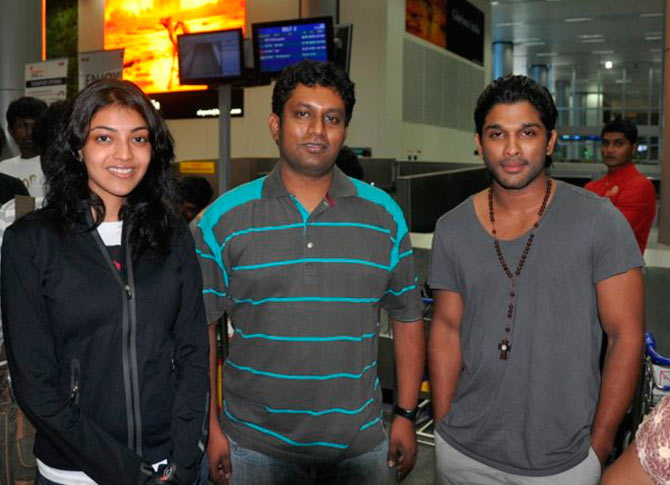 Kajal Agarwal and Allu Arjun